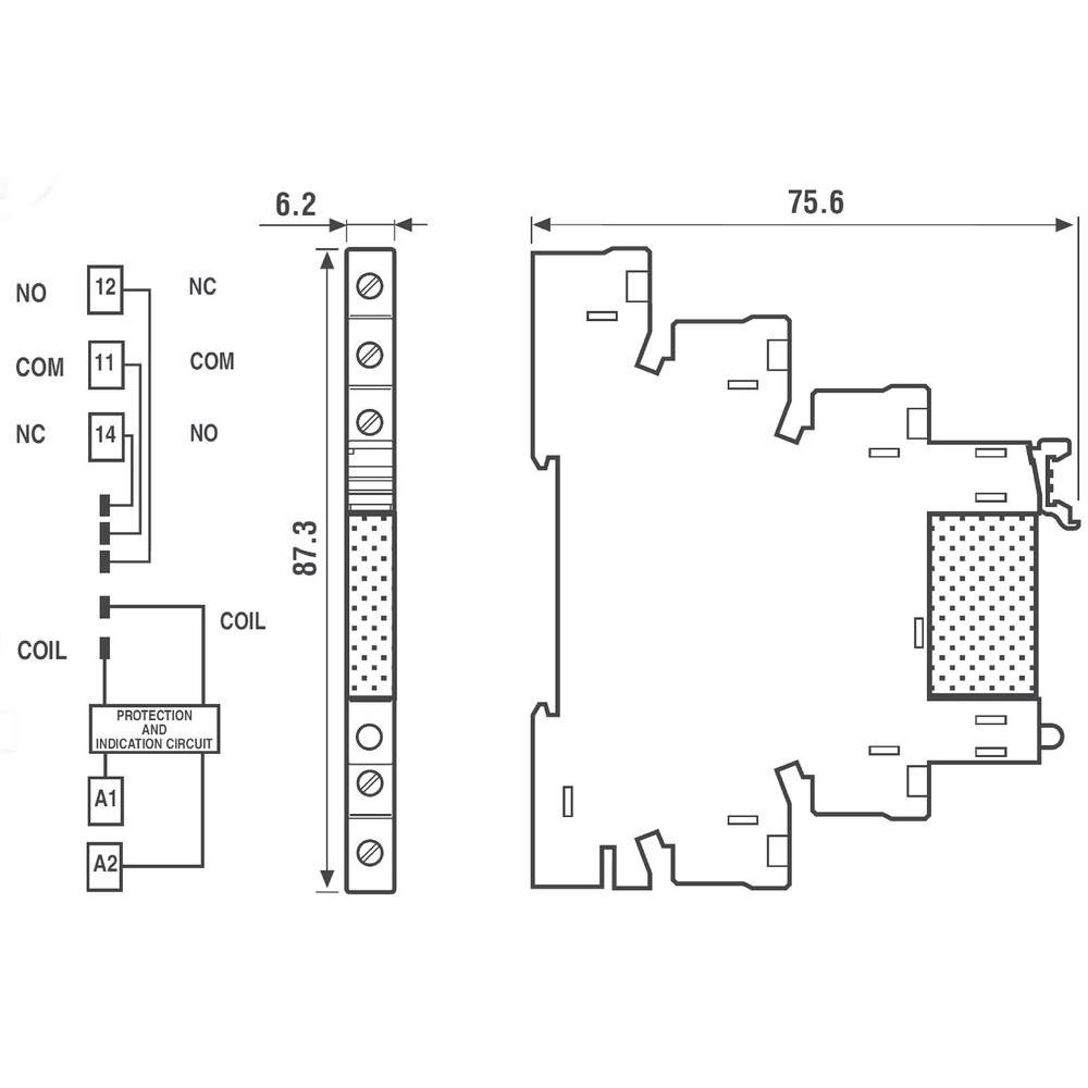 Finder 24vdc Relay Wiring Diagram Automotive Block 24 Vdc Drives And Controls 38 51 7 012 0050 Rh Drivesandcontrols Ie