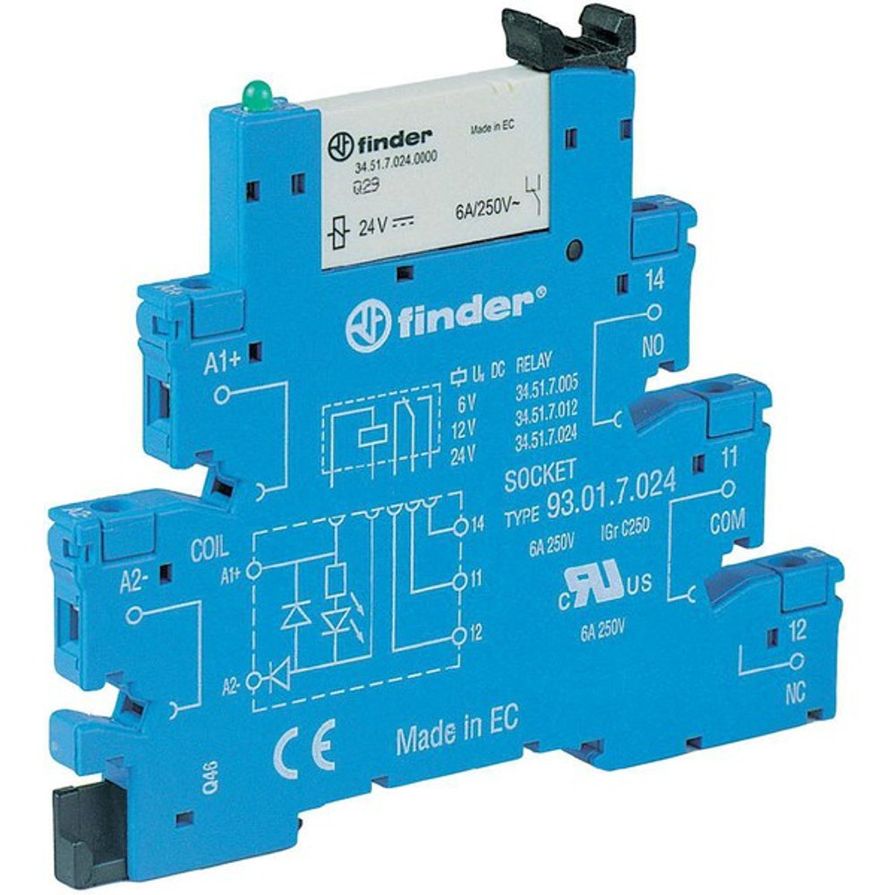 Finder 24vdc Relay Wiring Diagram - Introduction To Electrical ...