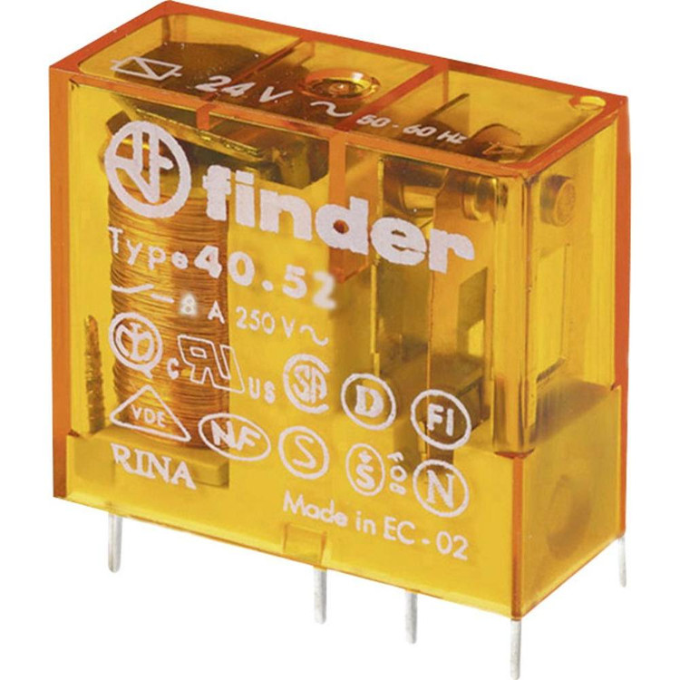 FINDER 40 Series 2Pole 8Pin 8Amp 12V AC Relay