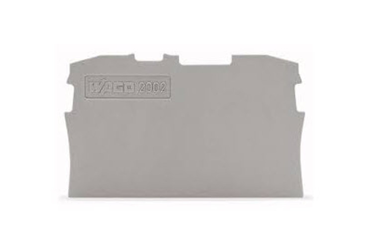 Wago TOPJOB®S Grey End and Intermediate plate for 2002 Series terminals 0.8mm wide; Bag Qty 25
