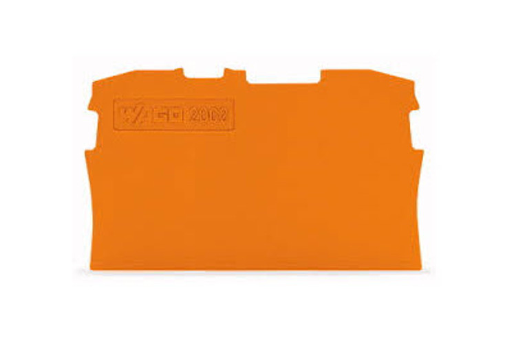 Wago TOPJOB®S Orange End and Intermediate plate for 2002 Series terminals 0.8mm wide; Bag Qty 25
