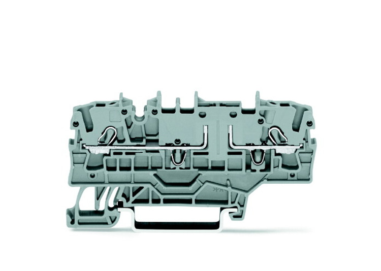 WAGO 2 conductor fuse terminal, grey