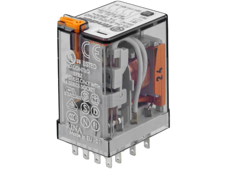 FINDER 55 Series 4 Pole 14 Pin 7Amp 24V AC Relay