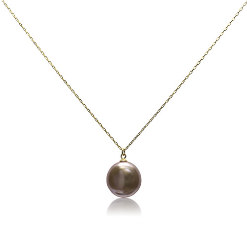 Lustrous Rainbow Coin Pearl Pendant Necklace