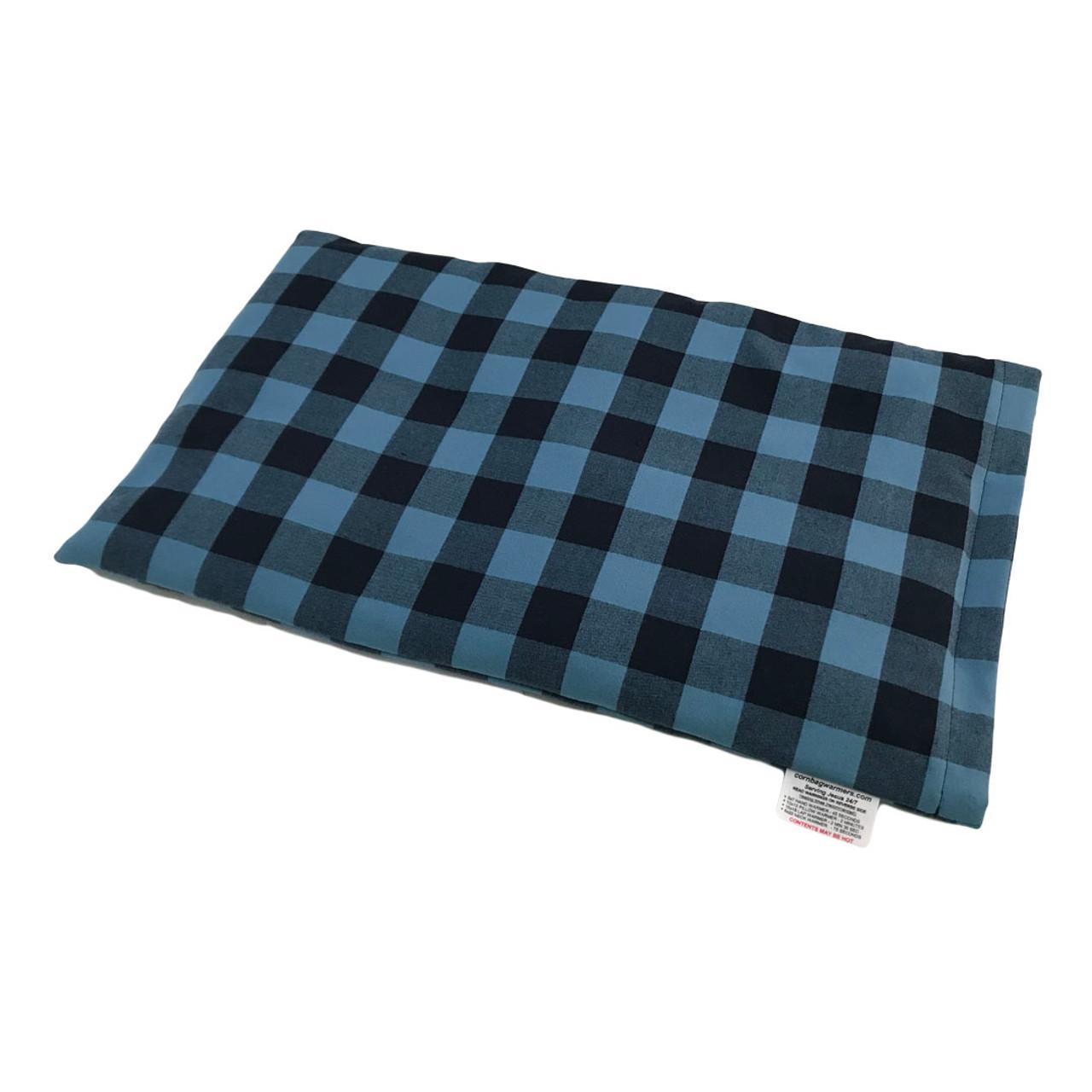 Light Blue & Black Plaid Lap Warmer Corn Bag Warmer -Beautiful!
