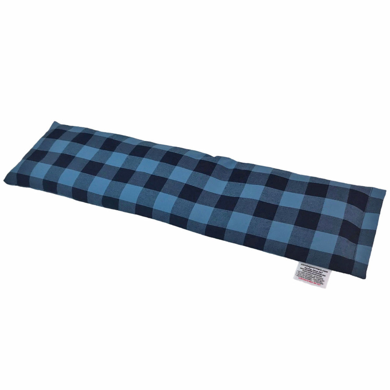 Light Blue & Black Plaid Neck Warmer Corn Bag Warmer - for Neck Pain. Beautiful!