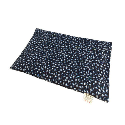 Deep Blue With Small Flowers Lap Warmer Microwave Heating Pad