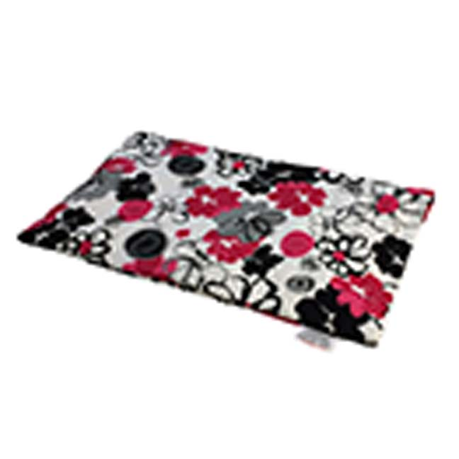 Black & Pink Bouquet Heating Pad for Back Pain | Lower Back Heat Therapy