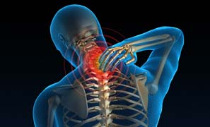 Picture of a person with neck pain