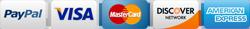Paypal VISA MasterCard Discover Amex image