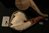 Buffalo Soldier Block Meerschaum Pipe by I. Baglan in a fit case 8396
