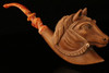 Horse Hand Carved Block Meerschaum Pipe in a fitted CASE 8809