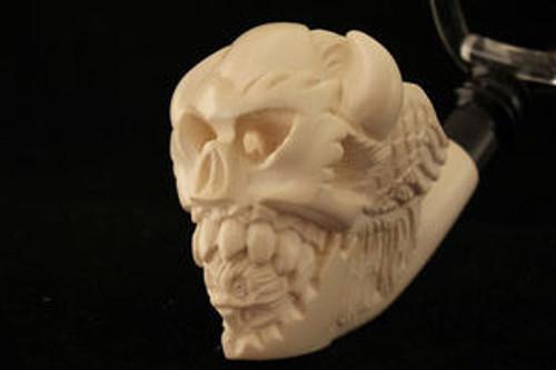 DEVIL ATE OWL Meerschaum Tobacco Pipe w/CASE 2065 Pipa