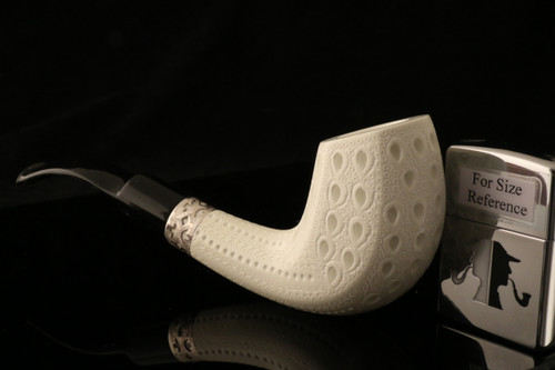 W1025 IMP Meerschaum Pipe - Hand Carved in a fitted CASE