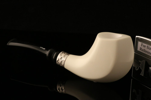 W1099 IMP Meerschaum Pipe - Hand Carved in a fitted CASE