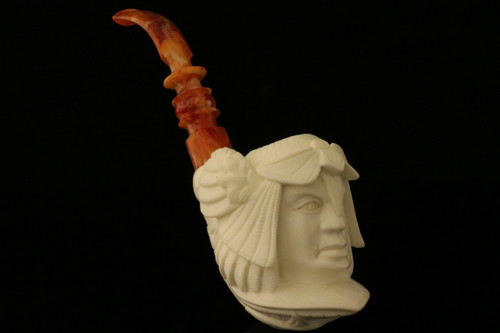 Warrior Viking Block Meerschaum Pipe by I. Baglan in fitted case 8831