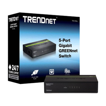 TRENDnet 5-Port Gigabit Unmanaged GREENnet Switch