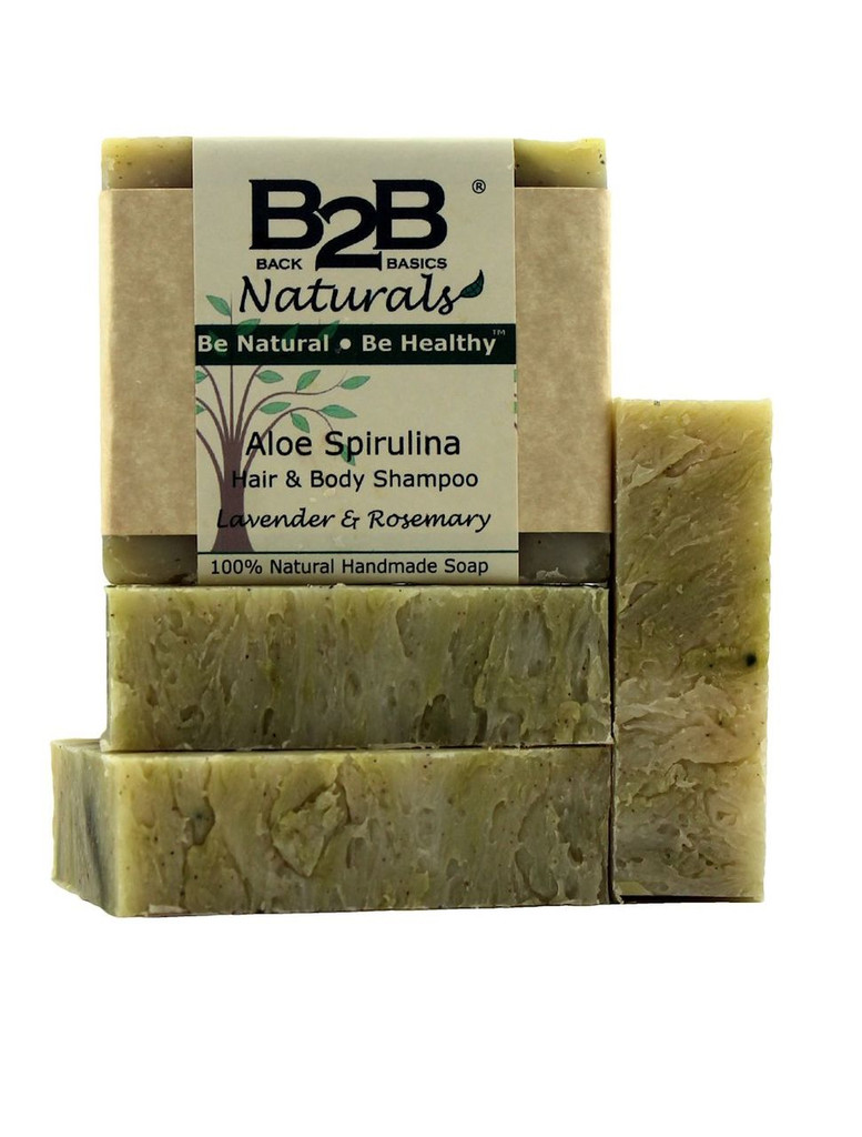 Perfect for Normal to Dry hair! Enriched with pure Aloe Vera, Spirulina, & Shea Butter, this extraordinary natural shampoo bar leaves your hair silky, clean, & refreshed. You will love the rich, fluffy lather and fresh aroma as it gently cleans your hair without stripping away your hair's natural, protective oils .  Aloe Vera and Spirulina are incredibly high in protein and beneficial nutrients and are the perfect addition to your hair care routine.