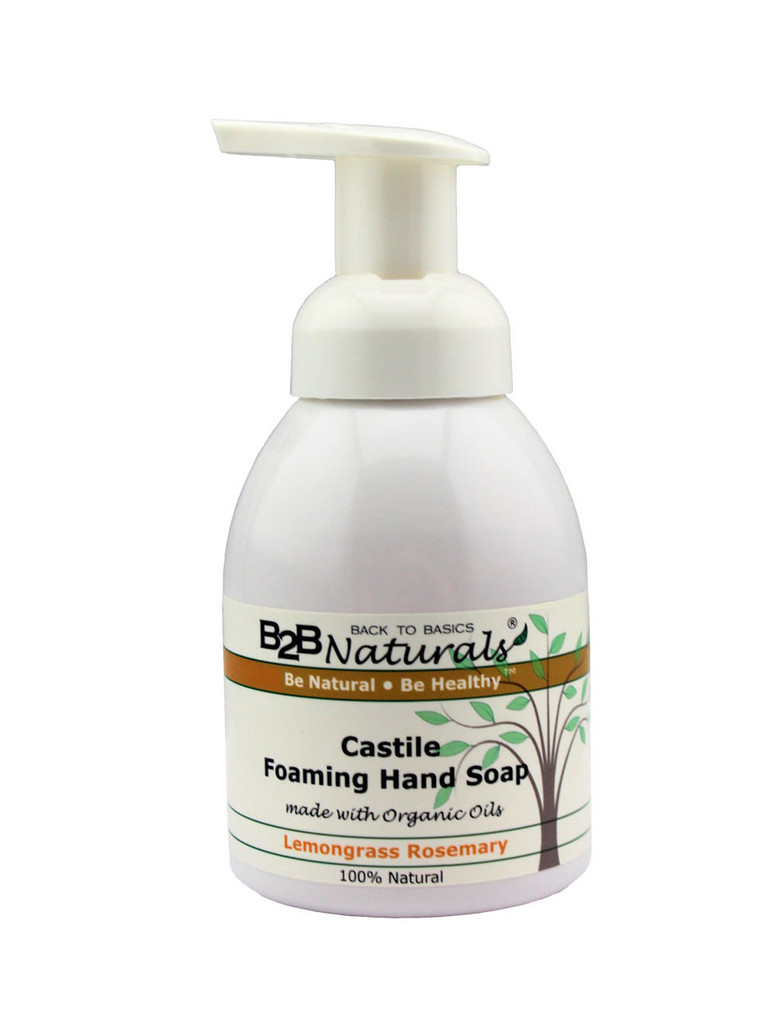 With our Lemongrass Rosemary Castile Foaming Hand Soap, you will fall in love with your soap! This premium hand soap has a super-rich, luxurious lather that leaves your skin soft and refreshed.