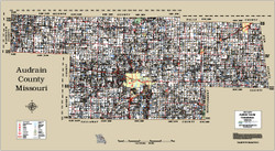 Audrain County Missouri 2014 Wall Map
