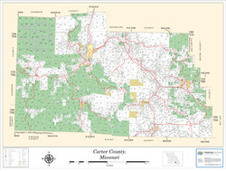 Carter County Missouri 2013 Wall Map