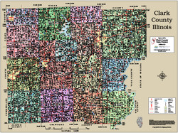 Clark County Illinois 2014 Wall Map