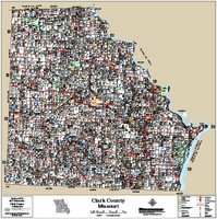 Clark County Missouri 2015 Wall Map
