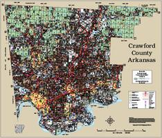 Crawford County Arkansas 2015 Wall Map