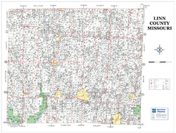 Linn County Missouri 2009 Wall Map