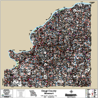 Osage County Missouri 2017 Wall Map