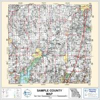 Pottawatomie County Oklahoma 2004 Wall Map