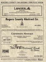 Rogers County Oklahoma 1998 Plat Book
