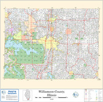 Williamson County Illinois 2011 Wall Map