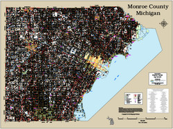 Monroe County Michigan 2018 Wall Map