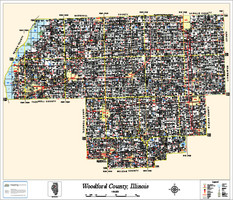Woodford County Illinois 2013 Wall Map