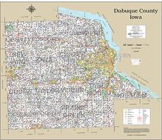 Dubuque County Iowa 2016 Wall Map