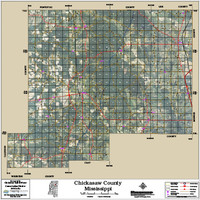 Chickasaw County Mississippi 2014 Aerial Map
