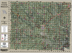 Henry County Missouri 2017 Aerial Wall Map