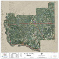 Jersey County Illinois 2018 Aerial Wall Map
