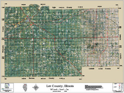 Lee County Illinois 2015 Aerial Map