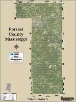 Forrest County Mississippi 2015 Aerial Map