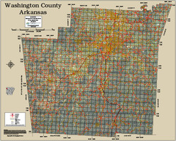 Washington County Arkansas 2015 Aerial Map