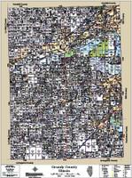 Grundy County Illinois 2015 Wall Map