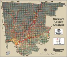Crawford County Arkansas 2015 Aerial Map