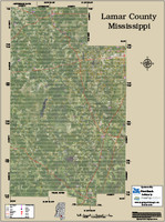 Lamar County Mississippi 2015 Aerial Map