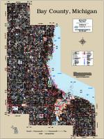 Bay County Michigan 2015 Wall Map