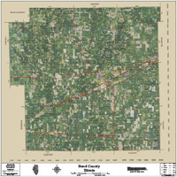 Bond County Illinois 2016 Aerial Map