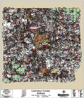 Lawrence County Indiana 2016 Wall Map