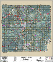 Lawrence County Indiana 2016 Aerial Map