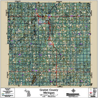 Gratiot County Michigan 2017 Aerial Map